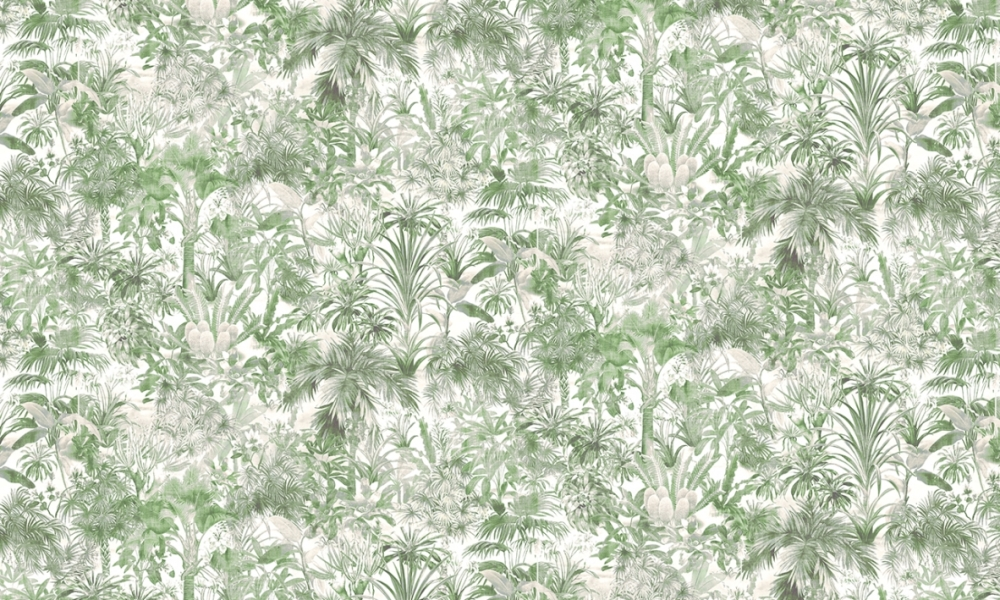 Oasis Malachite  100% Cotton  Approx. 280cm Drop (Railroaded)   V: 50cm H: 40cm  Dual Purpose 20,000 Rubs