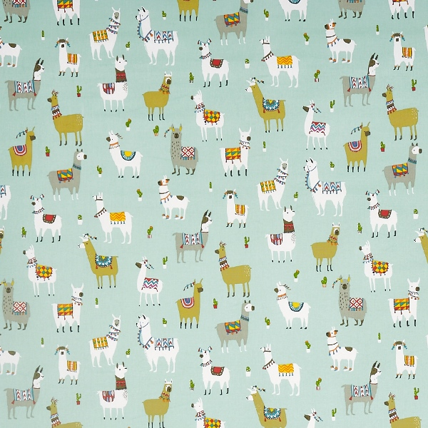 Alpaca Azure  100% Cotton  Approx. 137cm | 64cm  Curtaining
