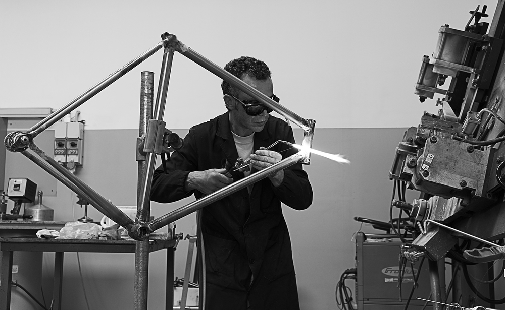 More brazing going on at the Battaglin workshop