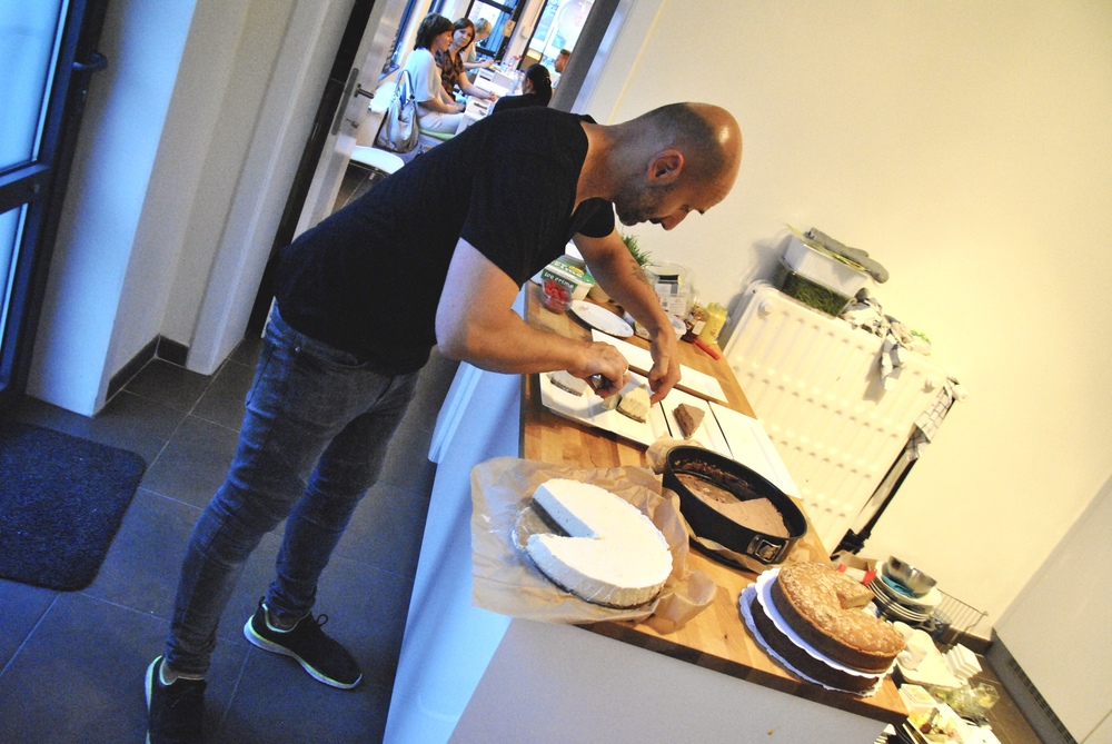Roberto preparing Food with Love