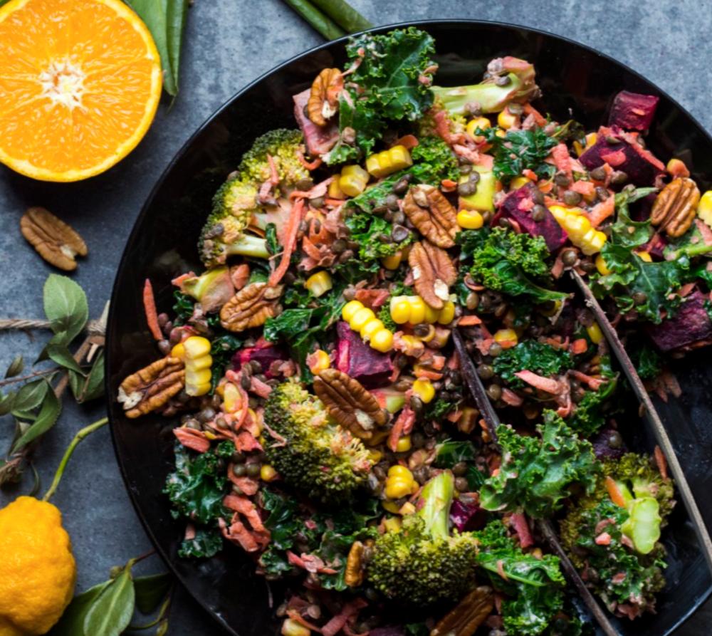 Wintery Beetroot & Lentil Salad