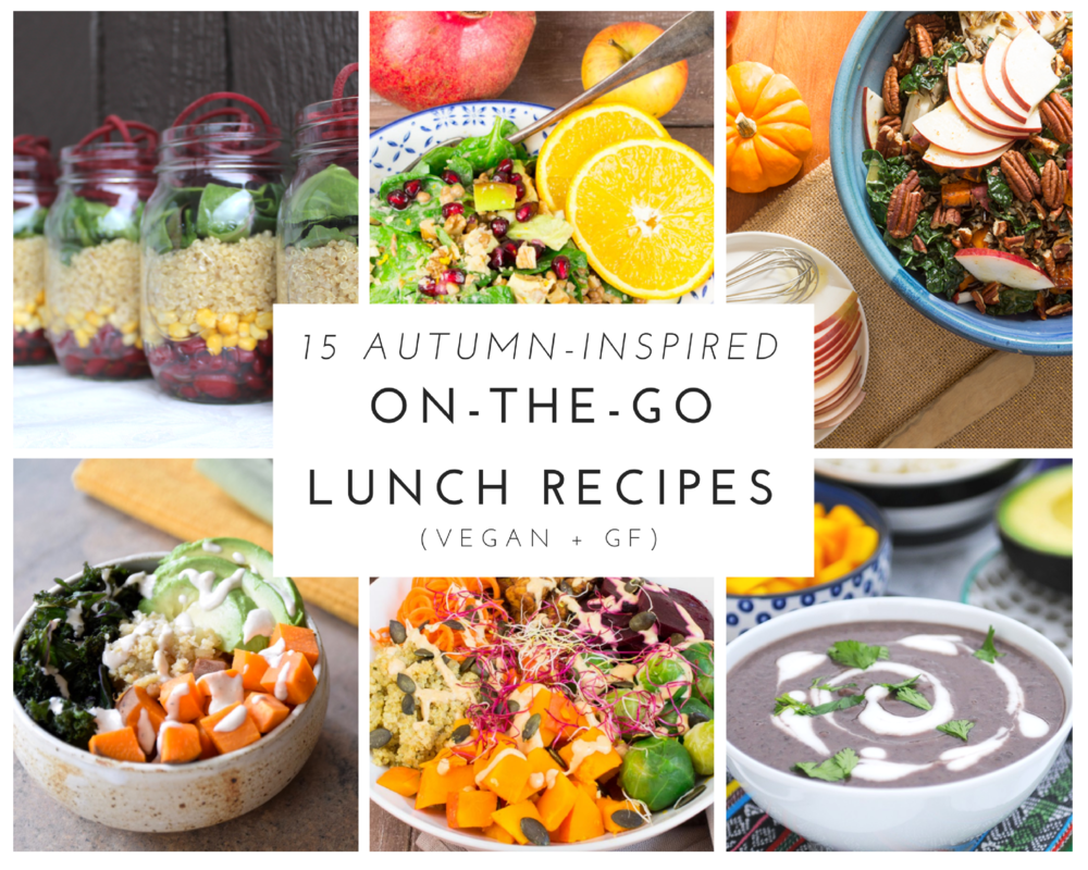 15 Autumn-Inspired On-The-Go Lunch Recipes (Vegan + Gluten-Free)