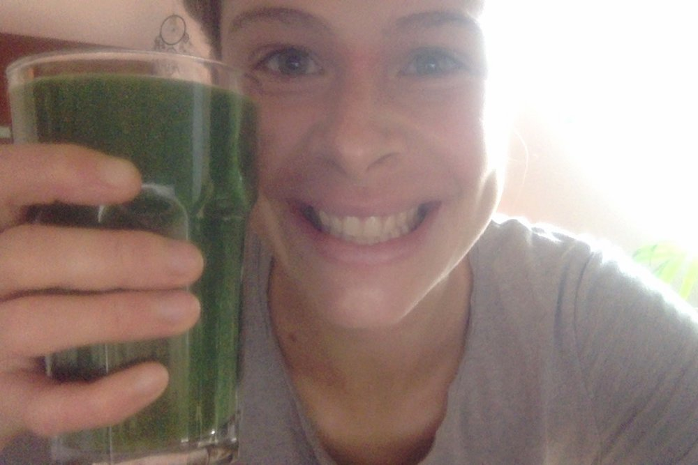 Green juice makes me happy