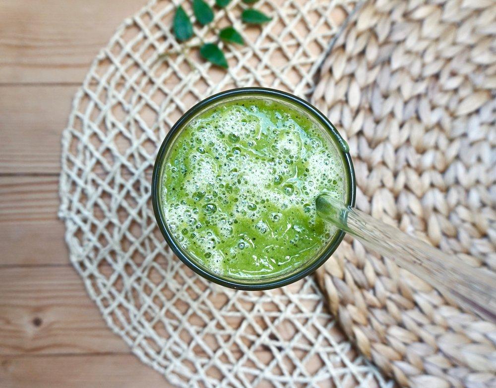 prebiotic green smoothie