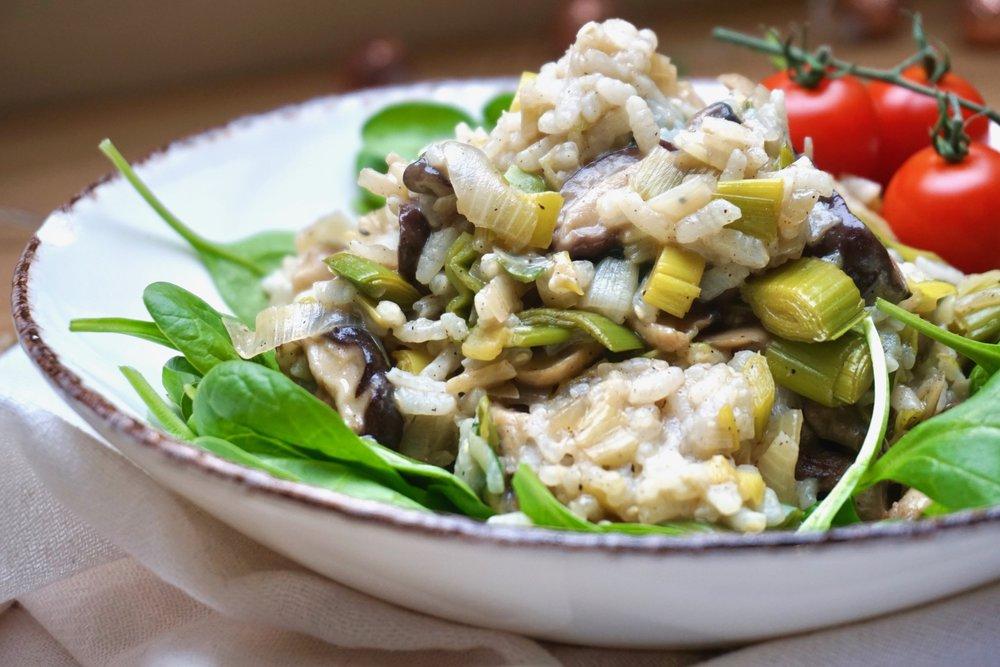 creamy-vegan-mushroom-risotto