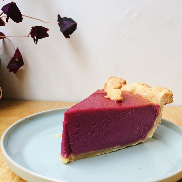 💜Purple sweet potato pie💜#pieoftheweek #purple #sweetpotatopie