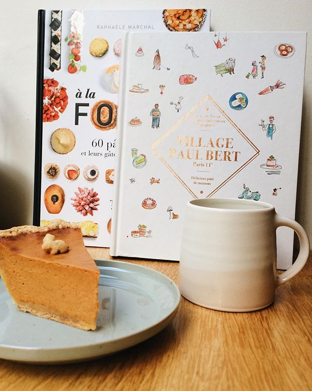 Lots of reasons to come by this week. It's pumpkin pie week. We are fully stocked up on our Kinto mugs and other items. And we have specials on books! #pumpkinpie #pieoftheweek #kinto #villagepaulbert #alafolie