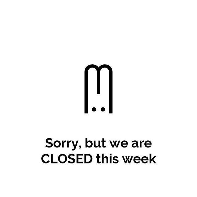 Dear friends, due to a death in the family we have to close this week. We'll be back next week. Thank you for understanding.