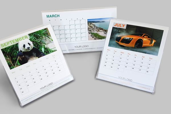 Business Calendars - Calendar printing using our digital printing technology is very quick and efficient, we have a range of stock designs suitable for desk and wall calendar formats and our design studio is on hand to fulfil your bespoke requests.