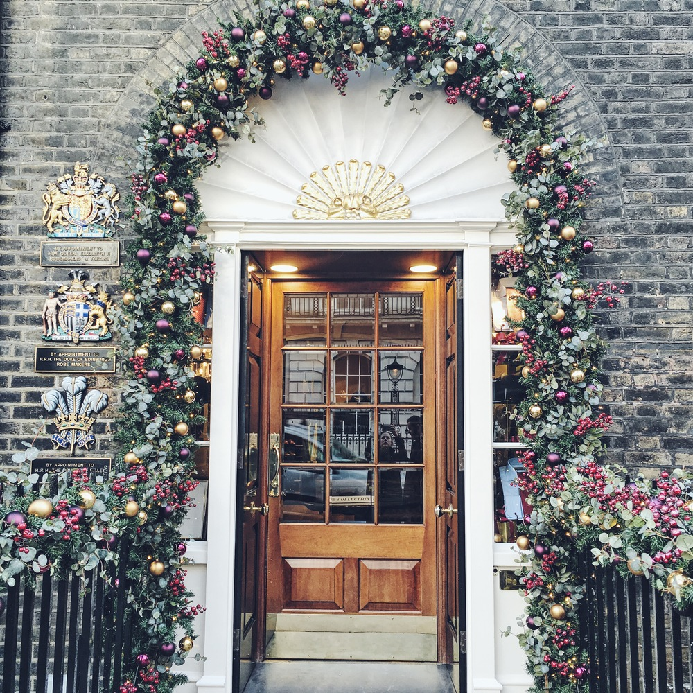 Savile Row - and the beautifully decorated doors