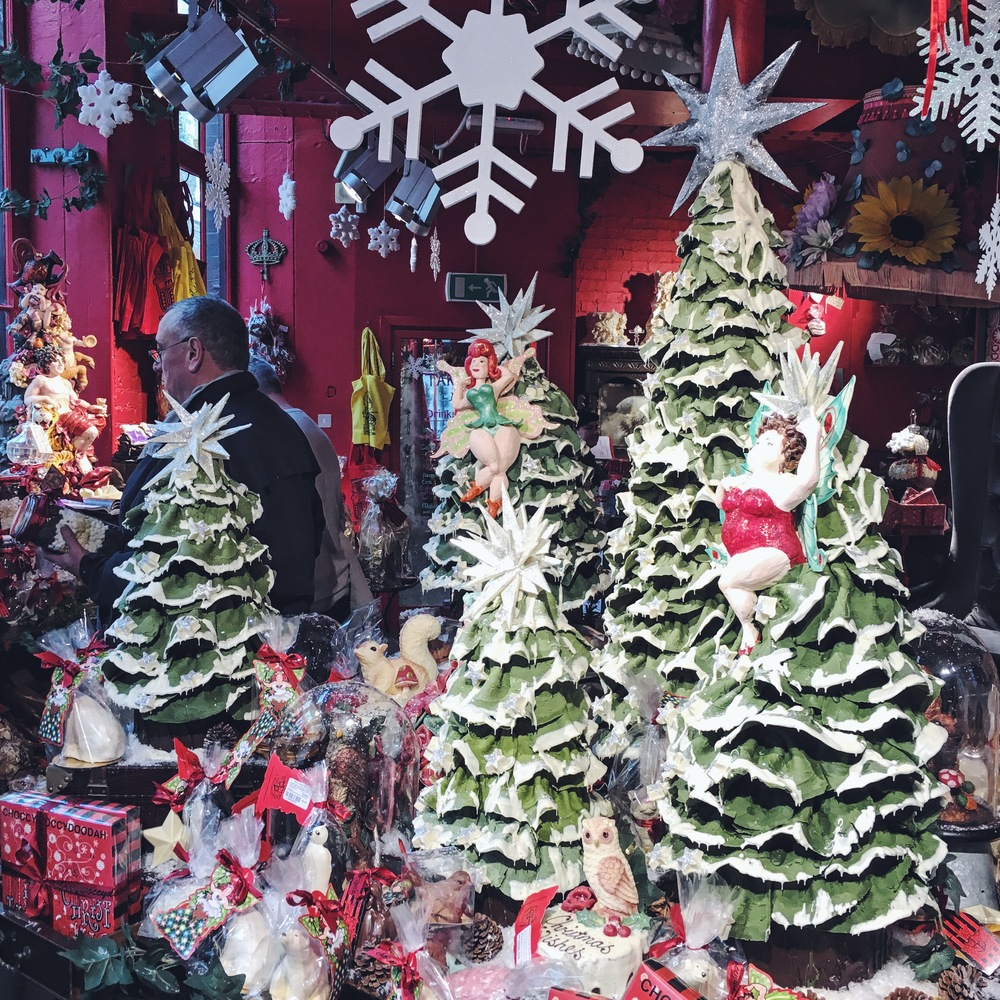 Chocolate Christmas trees at choccywoccydoodah