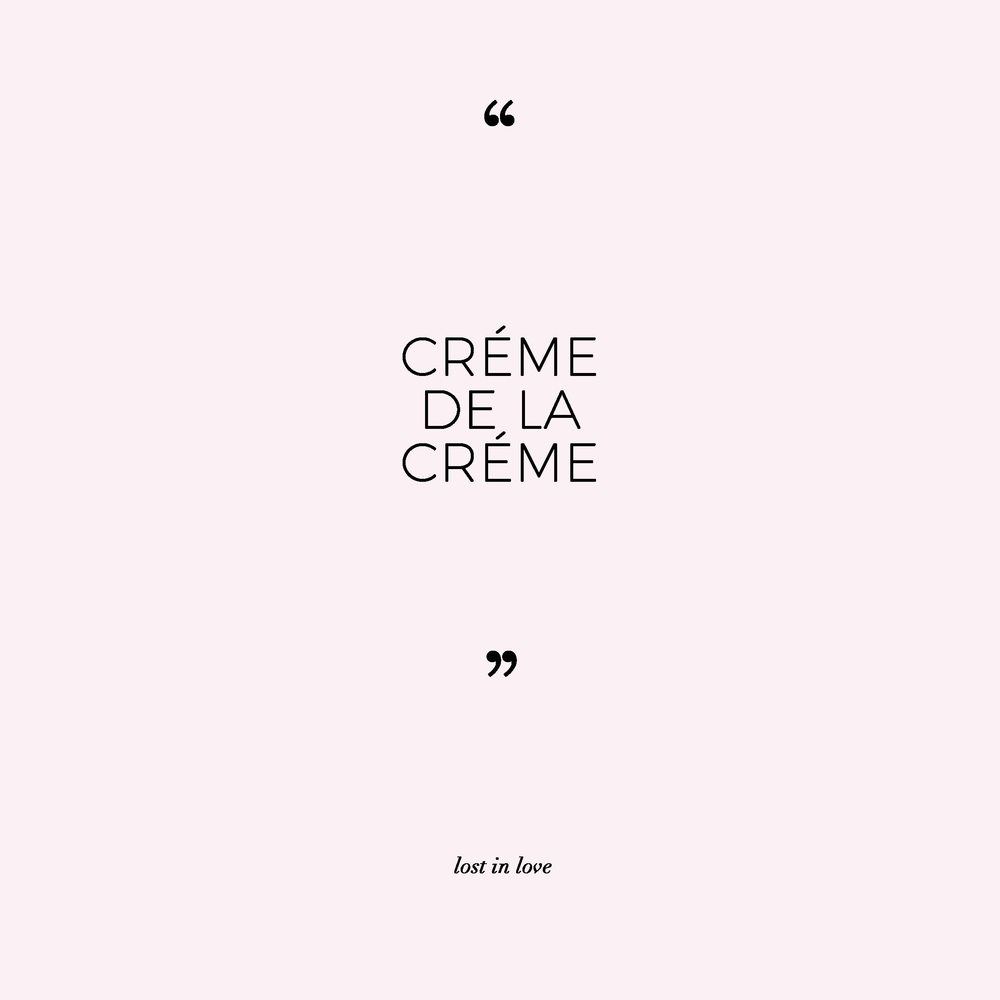 creme de la creme LOST IN LOVE PHOTOGRAPHY