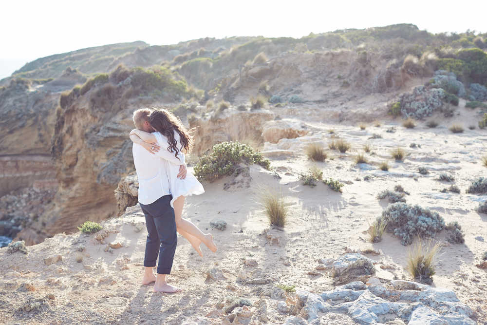 LOST IN LOVE PHOTOGRAPHY  Mornington Peninsula beach side engagement photo session