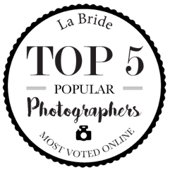 top 5. La Bride. Most Popular Photographer