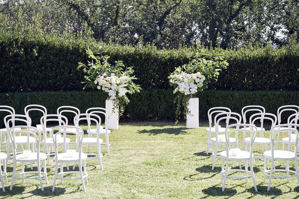 crisp white and green yering station wedding by Lost In Love Photography