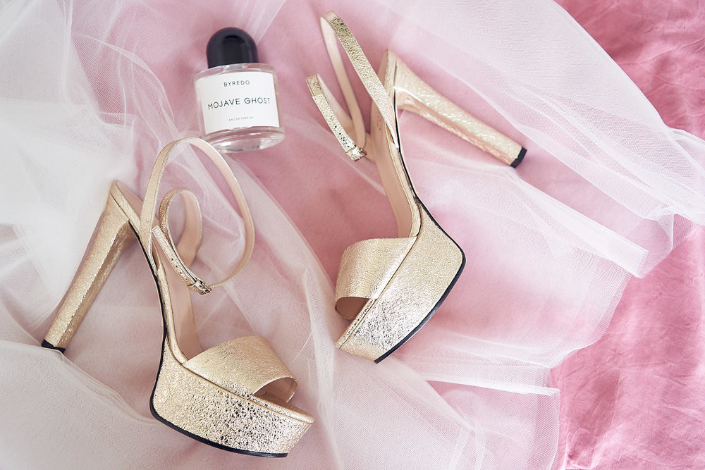 J & S Port Phillip Estate Wedding by Lost In Love Photography. Bridal Shoes. #gucci #BYREDO