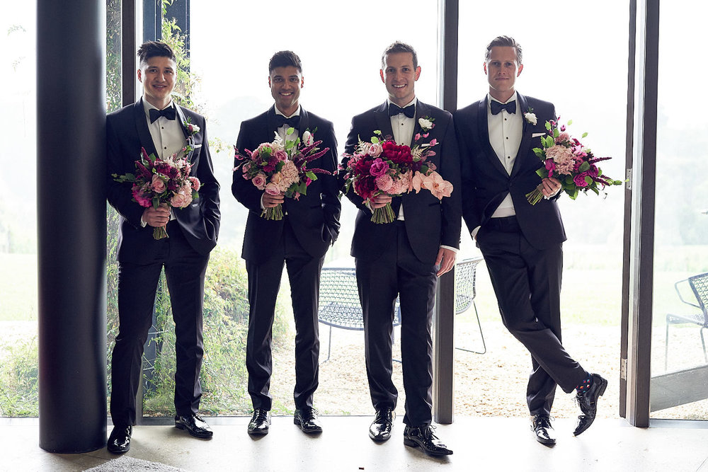 J & S Port Phillip Estate Wedding by Lost In Love Photography. #groomsmen