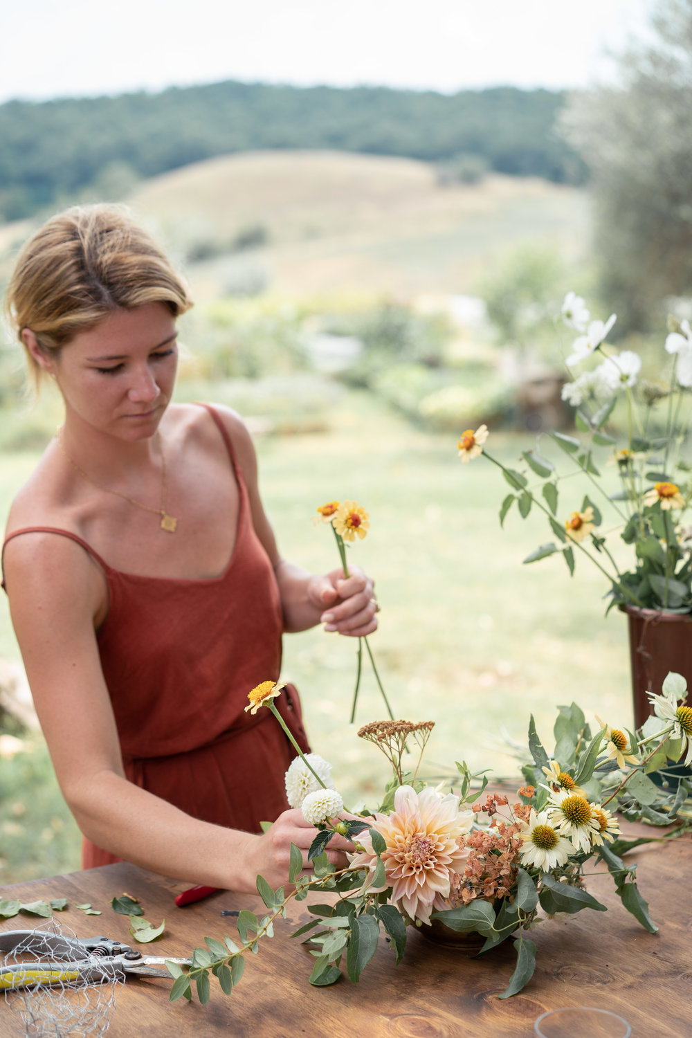 Tanya from Oh Flora- Floristry Workshop Tuscany by Lost In Love Photography