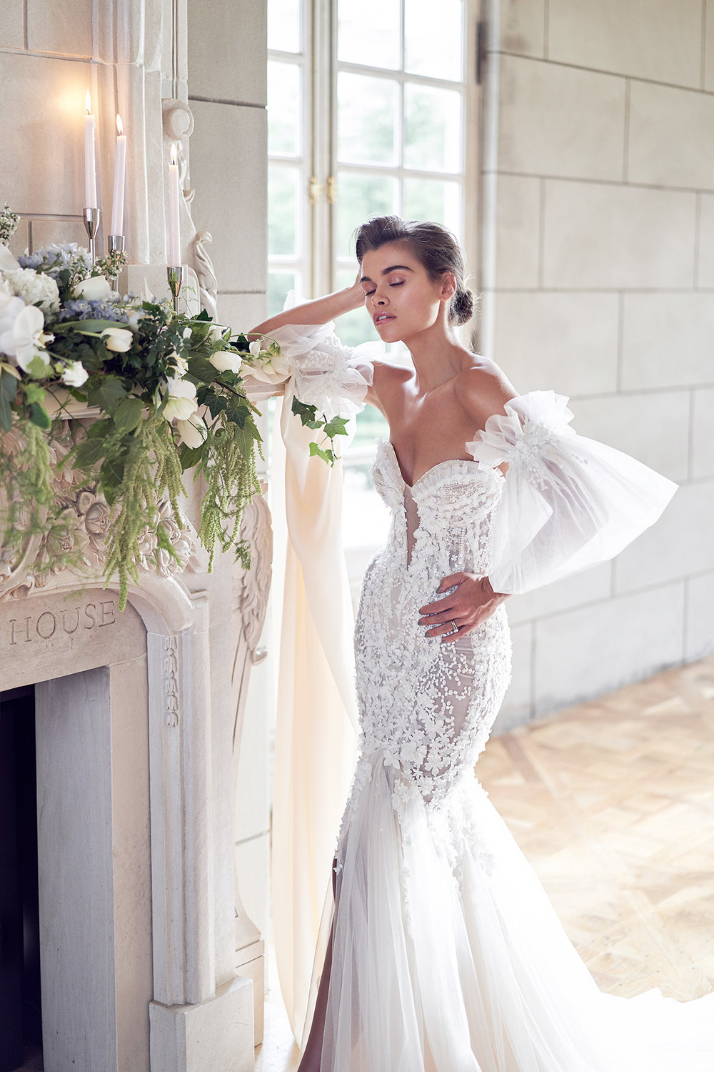 classic and chic wedding. Pallas Couture Wedding Dress. Campbell point house by lost in love photography