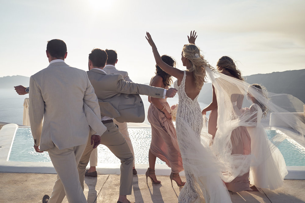Beautiful Santorini Wedding at rocabella. Pallas Couture. Lost In Love Photography