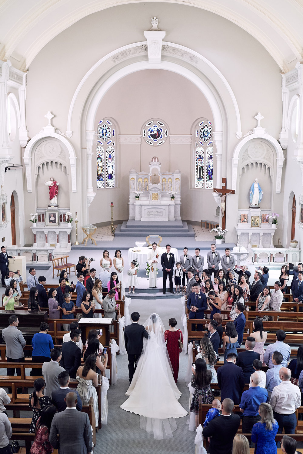 Vietnamese St Brendans Church Flemington Melbourne Wedding by lost in love photography