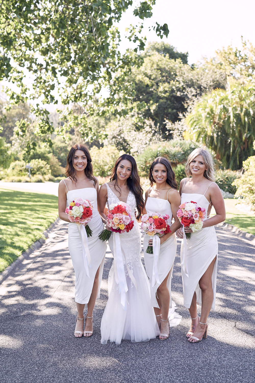 Melbourne botanical garden wedding bridal party photo by lost in love photography