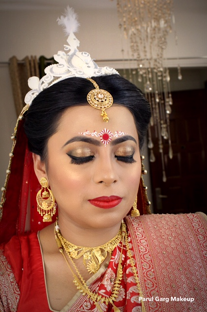 Bengali Bridal Makeup By Parul Garg Artist Delhi