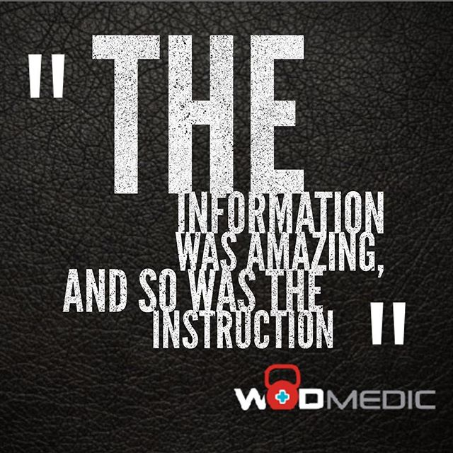 """""""Attended the WODMedic Movement Systems Course this weekend at my gym.  The information was amazing and so was the instruction. So much useful and helpful information. Thoroughly enjoyed!"""" We are now scheduling our Winter 2017 and Spring 2018 seminars! Reach out to host one at your box, and elevate your coaching expertise, generate extra revenue, and separate your box from the crowd! #crossfit #crossfitbox #crossfitcoach #crossfitaffiliate #wod #wodmedic #functionaltraining #mobility #mastery"""