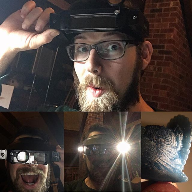 Got these J.J. Abrahams magnifying visor today to help clean some 3d prints. I didn't even know it had lights, perfect #magnifyingglass #visor #3dprinting #phrozen #mmyerov