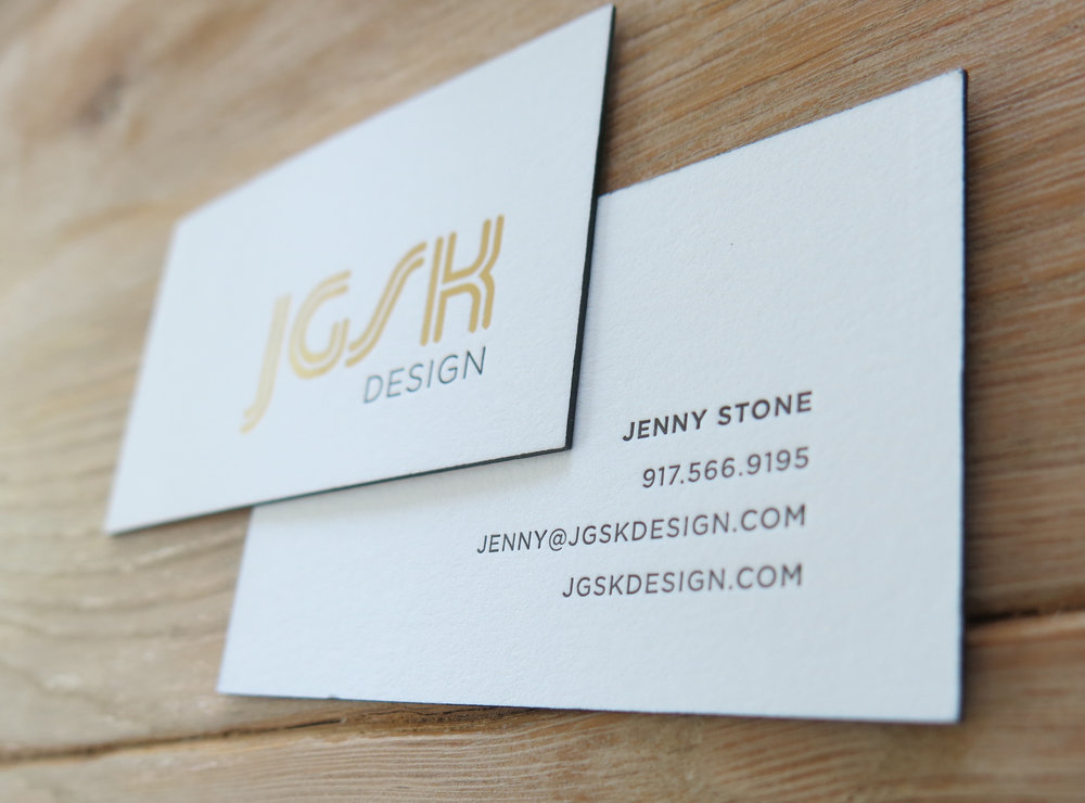 Jgsk design logo business card and web site 452 design 452 design business card front gold metallic foil with debossing back letterpress black edge painting on duplexed paper reheart Choice Image