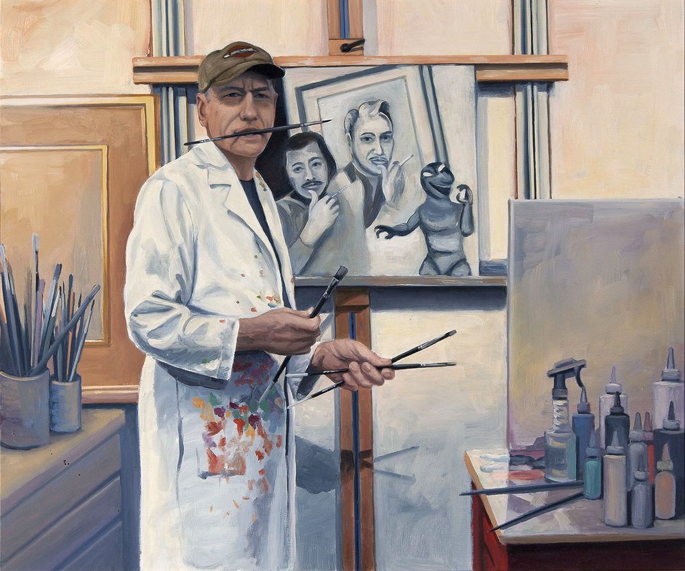 """Self Portrait in Studio"""