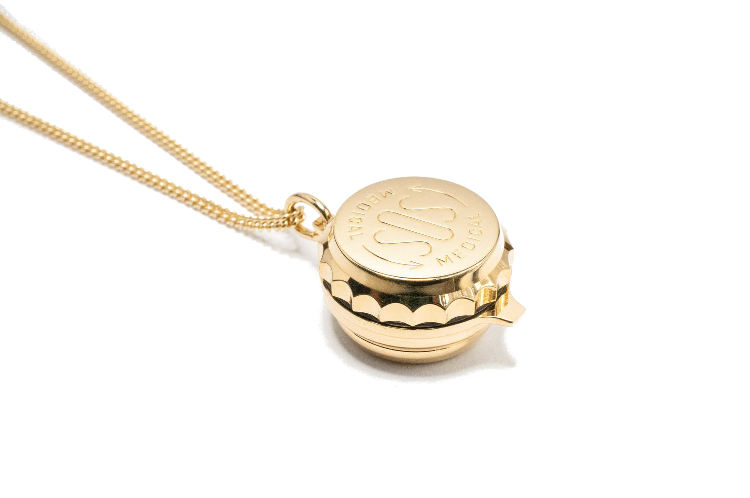 Gold plated with pill box sos talisman gold plated with pill box aloadofball Gallery