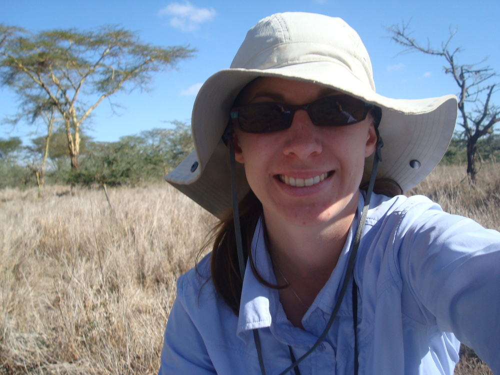 Doing field work in Kenya with baboons