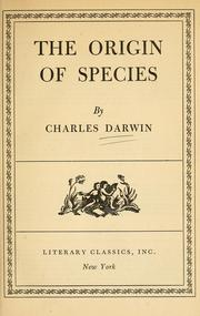 on the origin of species by Darwin