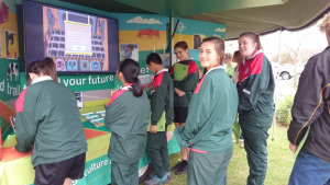 Local Manjimup students enjoying the DAFWA career booth