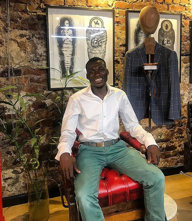 "We now offer a leather polishing service!  Meet David, the newest addition to our team. Dave's offering is shoe shining & leather goods polishing. Dave can polish any leather item such as shoes, handbags, luggage companions, duffle bags & more.  Come say ""Hi"". You are invited. #LockStockBarrel #PurveyorsofBespoke  #CapeTown #style #styleformen #styleguide #styletips #menswear #mensfashion #dapper #gent #tailored #tailoredsuit #madetomeasure #bespoke #business #entrepreneur"