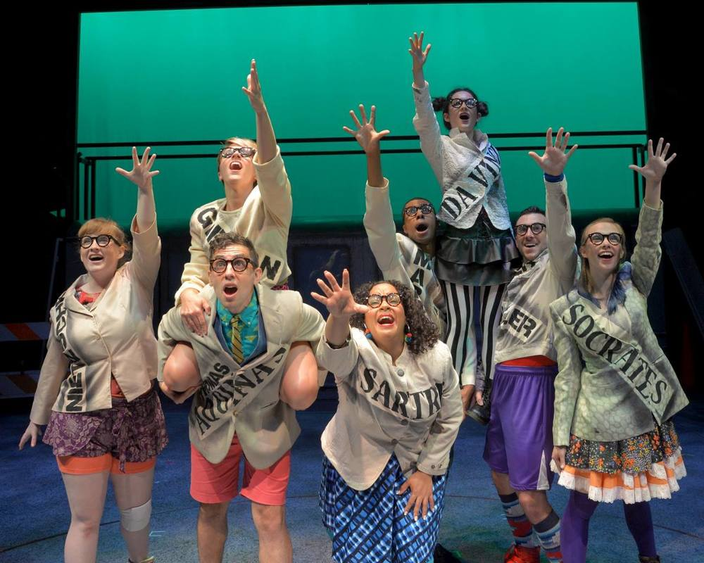 Cast of Godspell, WBT (far left)