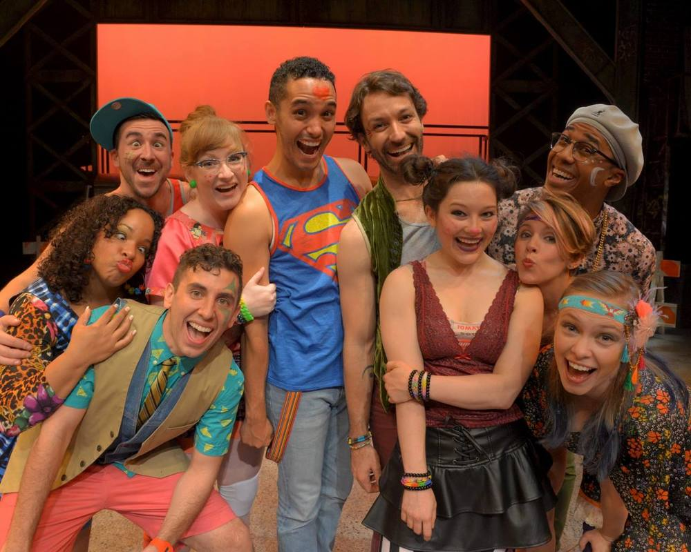 Cast of Godspell, WBT (3rd from left)