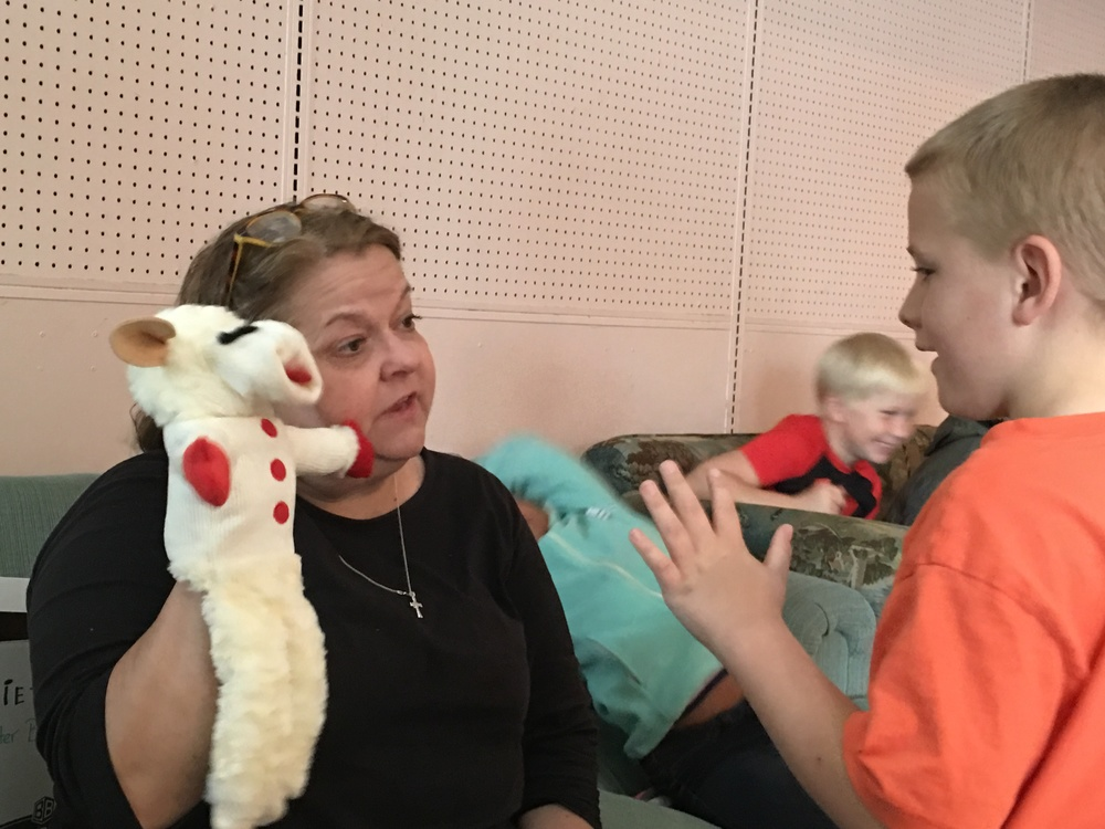 Mrs. susan shares information on proper care and technique when using the puppets.