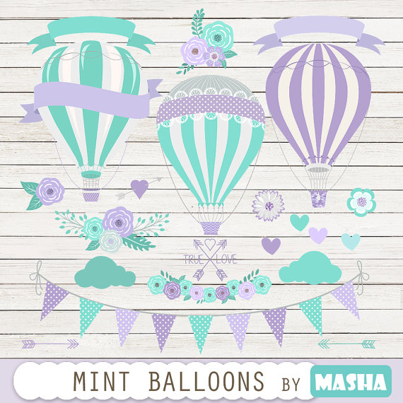 Purple & Mint Balloons