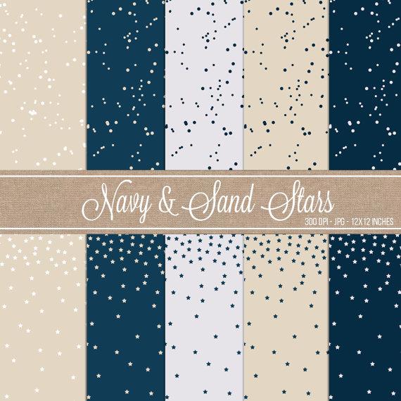 Navy & Sand Stars