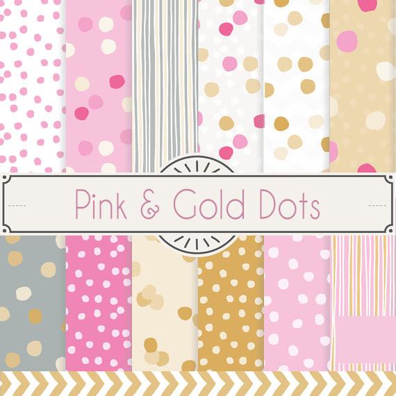 Pink & Gold Dots