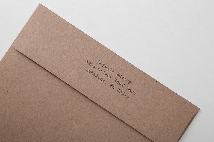Your return address can be printed on the back of your envelopes...