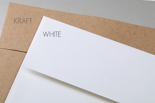 White & Kraft Envelopes