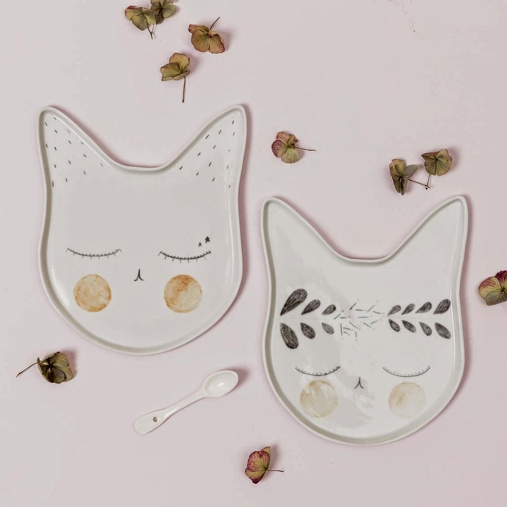 Assiettes chat - Le Petit Florilège