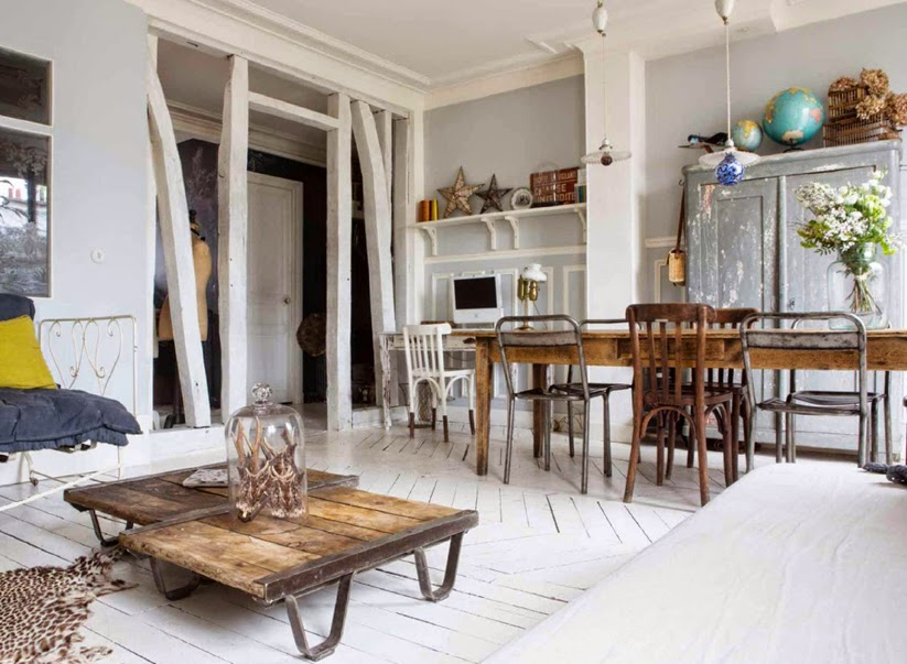 chez c cile et nico dans le dernier interiores le petit floril ge d coration int rieure. Black Bedroom Furniture Sets. Home Design Ideas