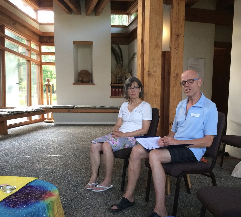 Wednesday Sacred Pause, in the chapel with Jim and Donna Simpson