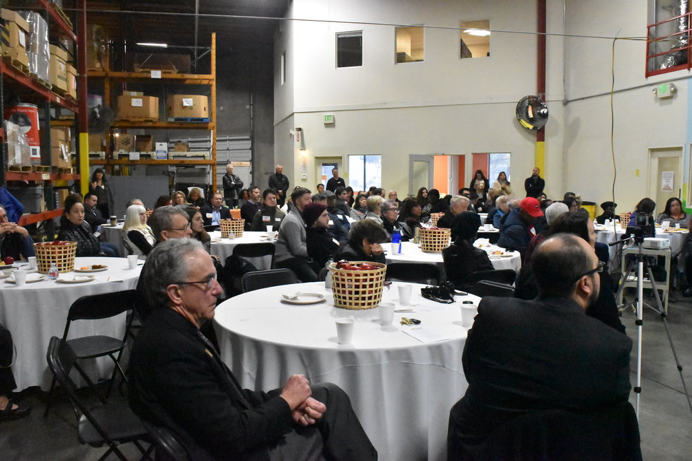 Attendees at the Food Bank of Contra Costa and Solano (FBCCS) on January 29.
