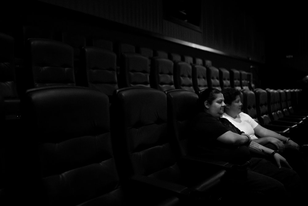 KAREN & AMY.   Karen and Amy were watching a movie in an Aurora, CO theater when the shooting began. While not physically wounded, they bear the same emotional and psychological trauma as those that were.  They still regularly attend movies at that theater and sit in the very same seats.