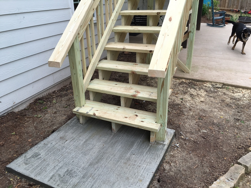 New Stairs added to existing deck